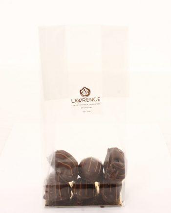 chocolat noir coeur de pistache